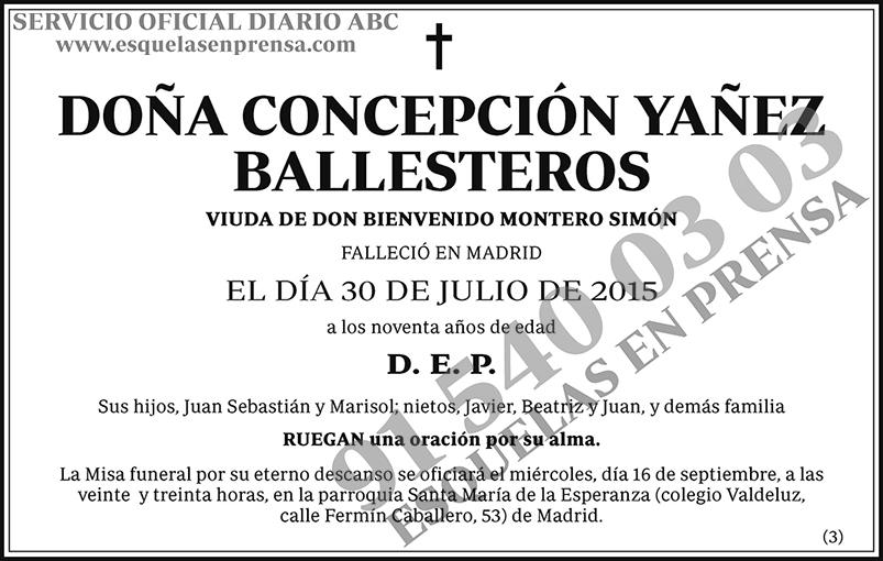 Concepción Yañez Ballesteros